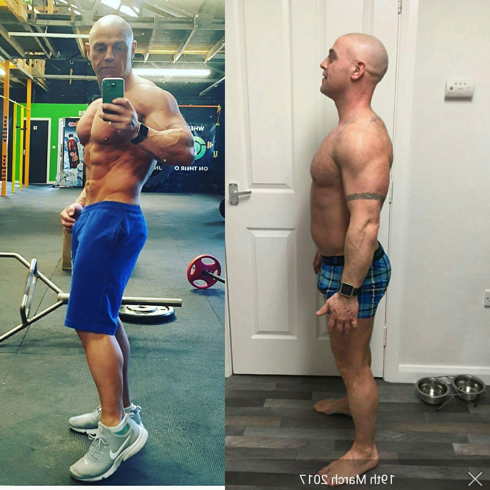 Before and after working with Craig at Evidence Based Muscle