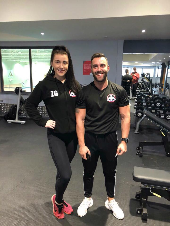 So many amazing clients @zoegreen_x sent me this picture when she bumped into another #teamebm client @lewisboyes in the gym she trains, Zoe and Lewis are 100% committed, have an amazing work ethic but very important are consistent. Thank you guys